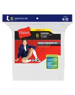 Hanes Men's Fresh IQ™ Over the Calf Tube Socks 6-Pack