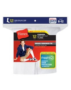 Hanes Men's FreshIQ™ Over-the-Calf Tube Socks 12-Pack