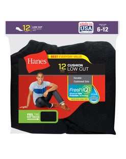Hanes Men's FreshIQ™ Low Cut Socks 12-Pack