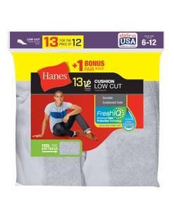 Hanes Men's Cushion Low-Cut Socks 13-Pack (Includes 1 Free Bonus Pair)