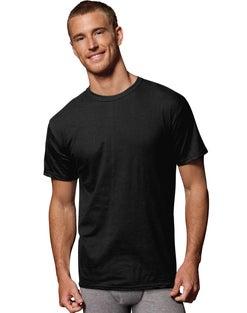 Hanes Men's FreshIQ® ComfortSoft® Dyed Black/Grey T-Shirt 2XL 4-Pack
