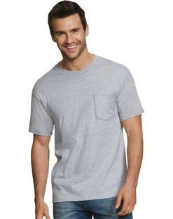 Hanes Men's FreshIQ® ComfortSoft® Dyed Assorted Colors Pocket T-Shirt 2XL 4-Pack