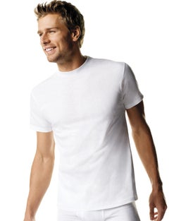 Hanes ComfortSoft® TAGLESS® Men's Tall Crewneck Undershirt LT-3XT 3-Pack