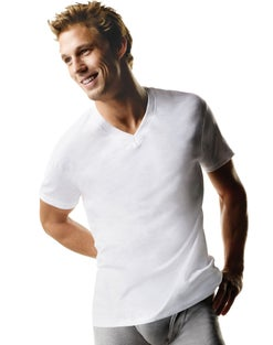 Hanes ComfortSoft® TAGLESS® Men's Big & Tall V-Neck Undershirt  3-Pack