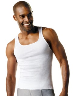 Hanes ComfortSoft® TAGLESS® Men's Big & Tall Tank Undershirt 3-Pack