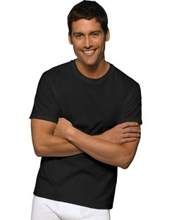 Hanes Ultimate™ Men's FreshIQ™ Black Crewneck 2XL-4XL 3-Pack