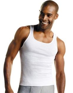 Hanes Men's FreshIQ™ ComfortSoft® White Tank Undershirt 6-Pack