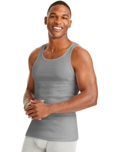 Hanes Men's Soft and Breathable Tank Assorted 6-Pack