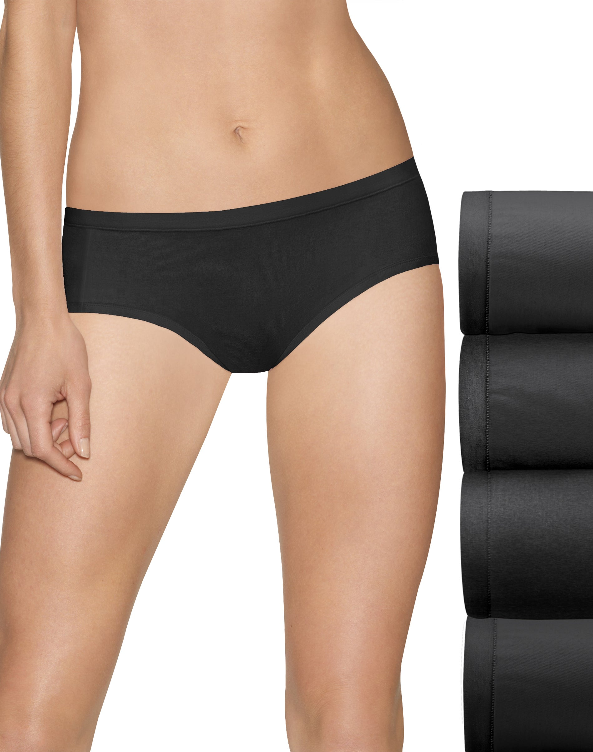 Hanes Ultimate Girls 4-Pack Stretch Hipster Panties