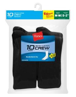 Hanes Boys Crew EZ Sort® Socks 10-Pack