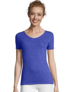 Hanes Women's FreshIQ™ X-Temp® Tri-Blend Performance V-Neck Tee