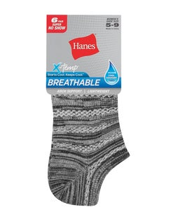 Hanes Women's Breathable Lightweight Super No Show Socks, 6-Pack