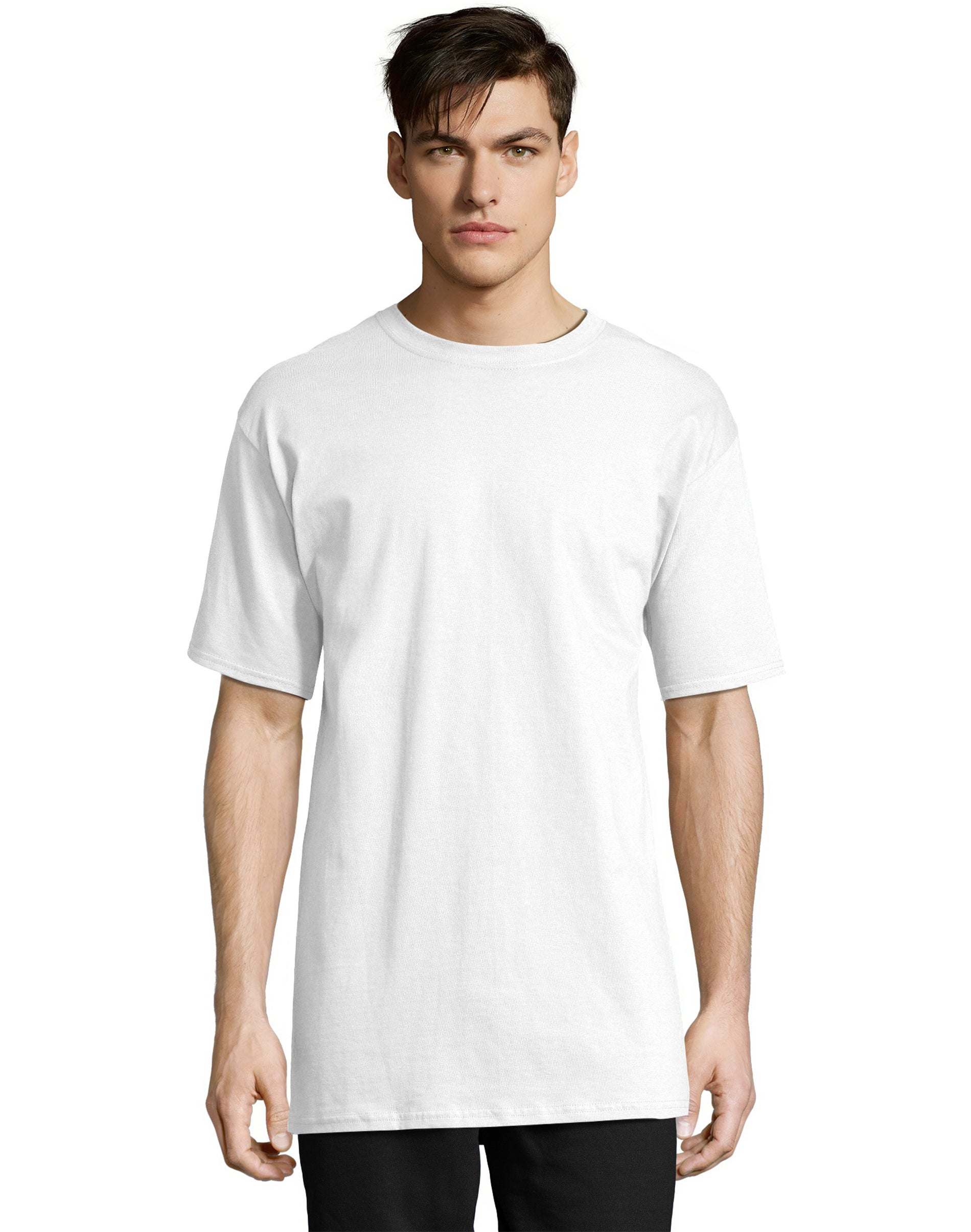NWT Mens Hanes Beefy 2XL Cotton Blend  S//S Crew Neck Graphic Tee Shirt