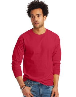 Hanes Men's TAGLESS® Long-Sleeve T-Shirt