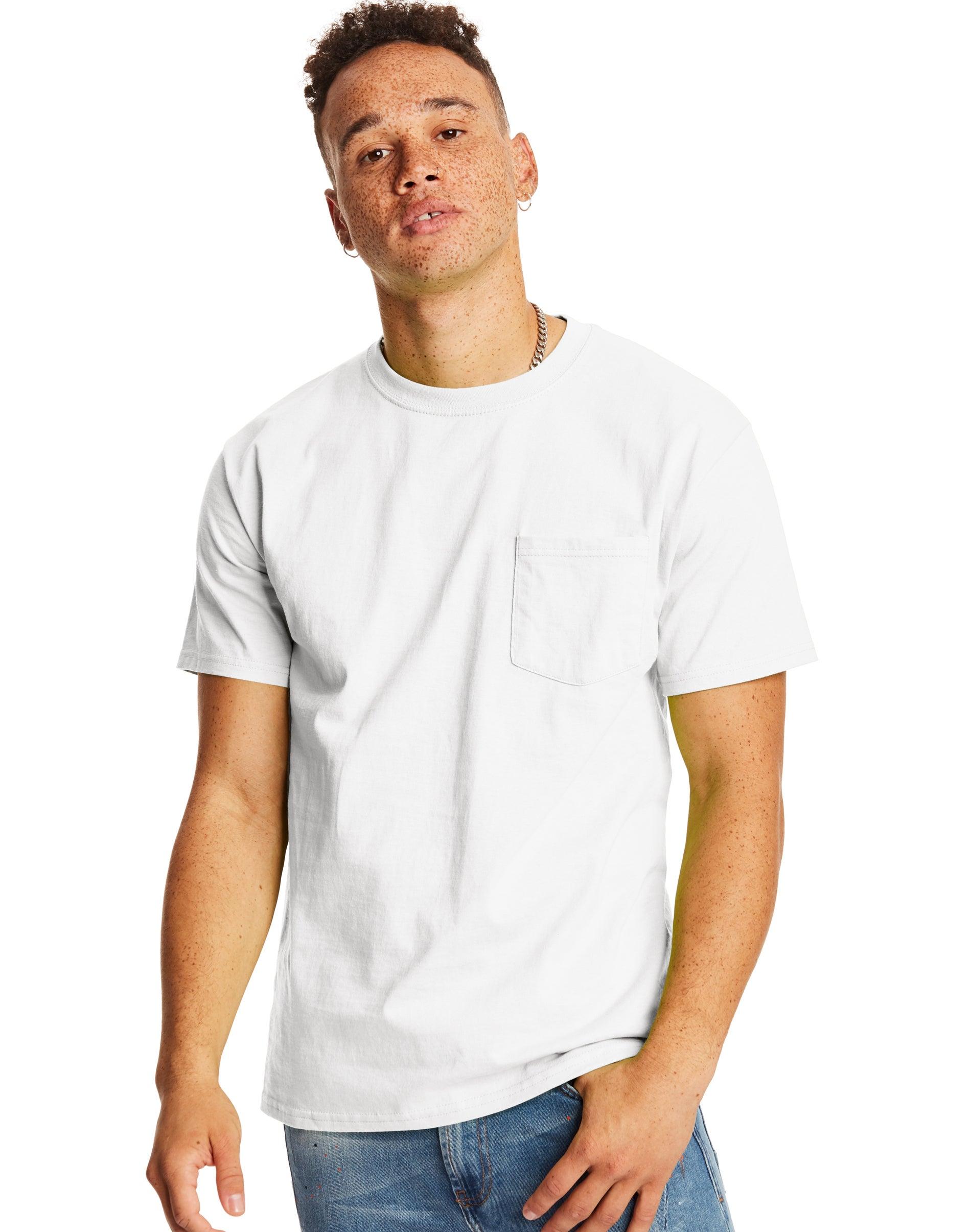 Hanes Mens Big Crew T-Shirt-Sizes Denim Blue Pack of 5