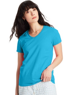 Hanes Women's Relaxed Fit Authentic Jersey ComfortSoft® V-Neck T-Shirt