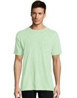 Hanes Men's 1901 Heritage Dyed Short Sleeve Crewneck Pocket Tee