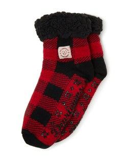 Dearfoams Women's Fairisle or Plaid Knit Cozy Slipper Sock