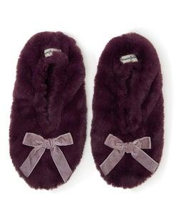 Dearfoams Women's Furry Toasty Slipper Sock