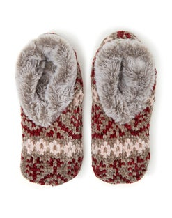 Dearfoams Women's Fairisle Knit Toasty Slipper Sock