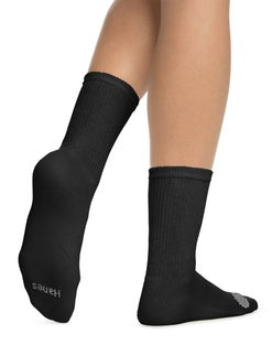Hanes Women's Cool Comfort® Crew Socks Extended Sizes 8-12, 6-Pack