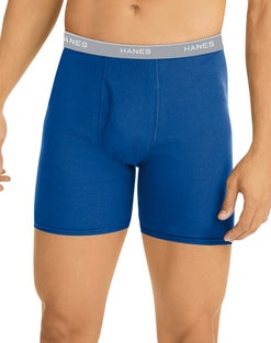 Hanes Men's Tagless Boxer Briefs, 6-Pack
