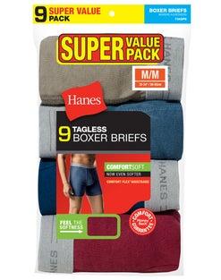 Hanes Men's Fresh IQ™ Boxer Briefs Super Value 9-Pack