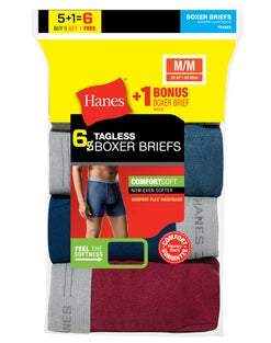 Hanes Men's TAGLESS Boxer Brief with Comfort Flex® Waistband 6-Pack   (Includes 1 Free Bonus Boxer Brief)