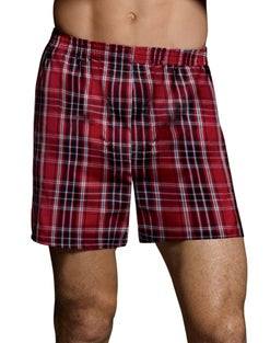Hanes Ultimate™ Men's FreshIQ™  Tartan Boxers 5-Pack