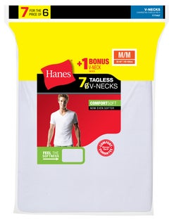 Hanes Men's FreshIQ® ComfortSoft®  V-Neck Undershirt 7-Pack (Includes 1 Free Bonus V-Neck)