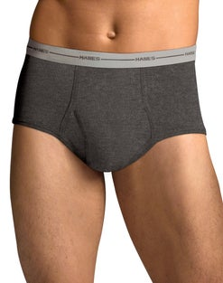 Hanes Men's FreshIQ® ComfortSoft® Full Rise Dyed Briefs 6-Pack