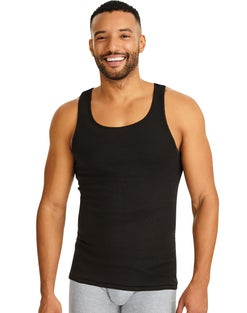 Hanes Ultimate™ Men's ComfortSoft® Dyed Tank Undershirt 4-Pack