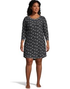 Jersey Plus Sleepshirt--Black