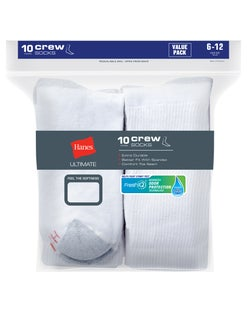 Hanes Ultimate® Men's Cushion Crew Socks 10-Pack