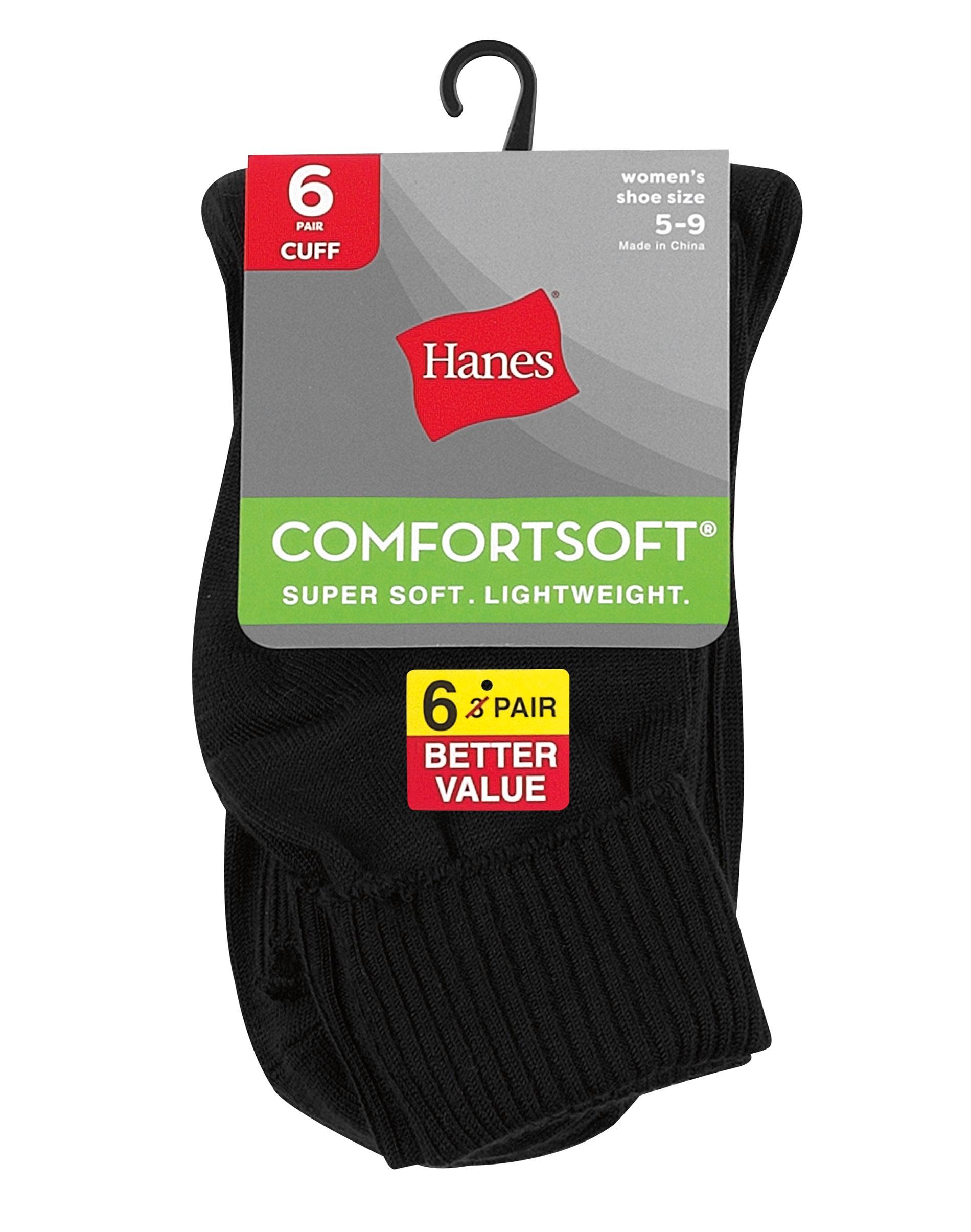 Low Cut Socks 3-Pack Hanes ComfortSoft Women/'s Lightweight shoe sizes 8-12 /& 5-9