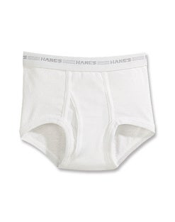 Hanes Boys' White Briefs Value 6-Pack