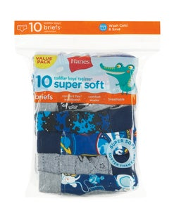 Hanes Toddler Boys' Briefs with ComfortSoft® Waistband 10-Pack