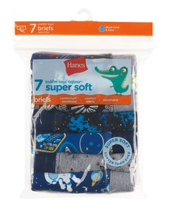 Hanes Toddler Boys' Briefs with ComfortSoft® Waistband 7-Pack