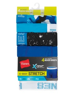 Boys' X-Temp® 4-Way Stretch Boxer Briefs 4-Pack