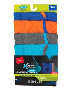 Boys' X-Temp® Lightweight Mesh Boxer Briefs 4-Pack
