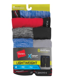 Boys' X-Temp® Lightweight Boxer Briefs 6-Pack