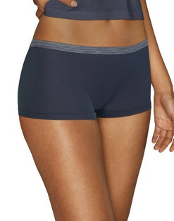 Hanes Comfort Flex Fit® Microfiber Stretch Boyshort 6-Pack