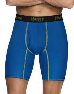Hanes Men's Comfort Flex Fit® Breathable Mesh Long Leg Boxer Briefs 3-Pack
