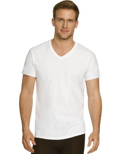Hanes Men's Comfort Fit Ultra Soft Cotton/Modal V-Neck Undershirt 2XL 3-Pack