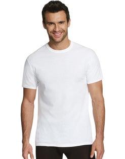 Hanes Men's Comfort Fit White Crew Undershirt 3-Pack