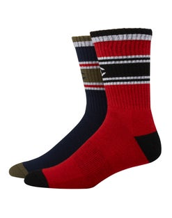 Performance Crew Socks, C Logo, 2-pairs