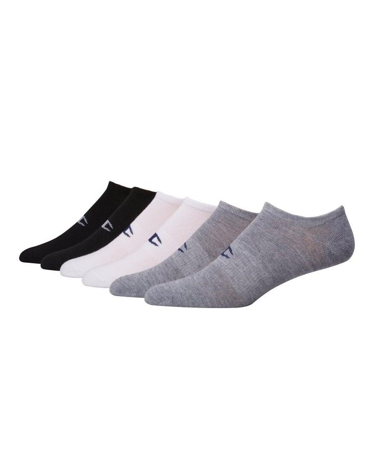 Champion Men's Logo No-Show Socks, 6-Pack