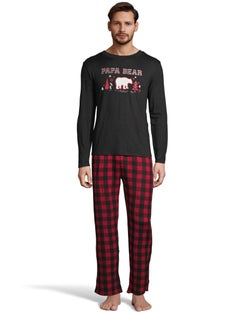 Dearfoams Men's Papa Bear PJ Set