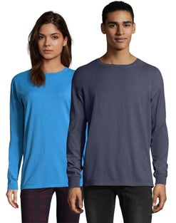 Hanes Adult ComfortWash™ Garment Dyed Long Sleeve Tee