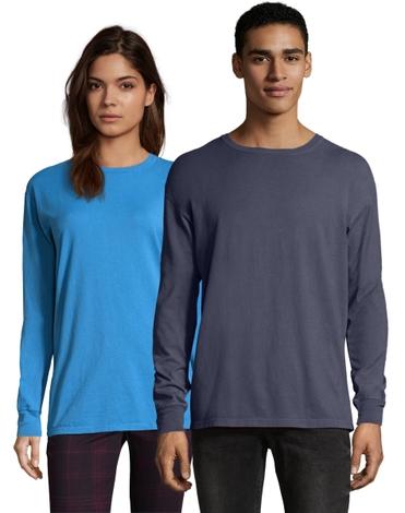 Hanes Adult ComfortWash Garment Dyed Long Sleeve Tee